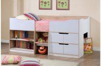 Paddington Single Cabin Bed With Storage Oak & White 4