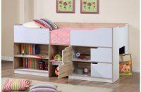 Paddington Single Cabin Bed With Storage Oak & White 2