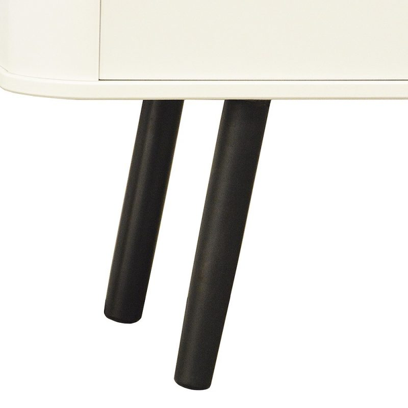 Piano Scandi Style Sideboard Black 2