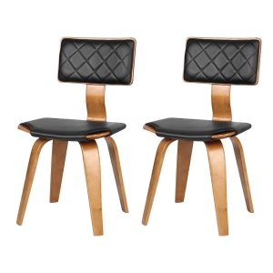 Prime Dining Chairs Black Faux Leather