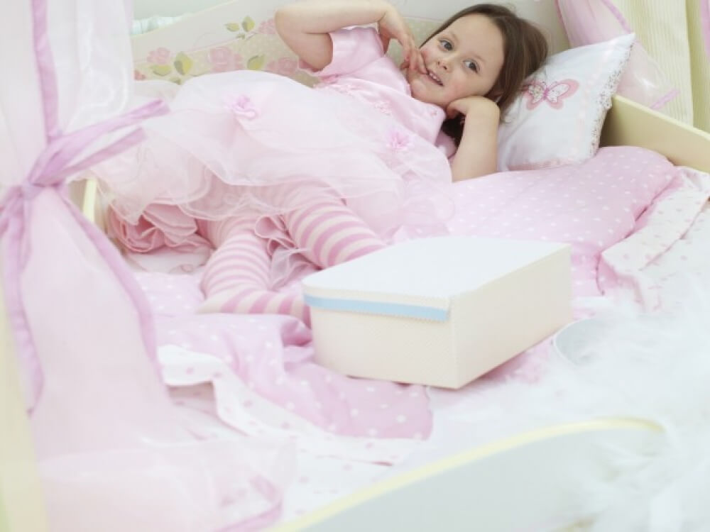 Princess 4 Poster Toddler Bed