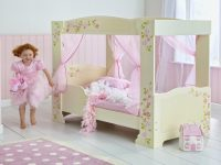 Princess 4 Poster Single Toddler Bed Cream With Floral Design 3
