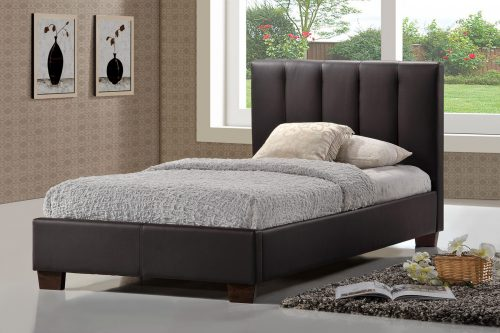 Pulsar Bed Frame Faux Leather Brown