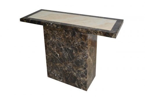Ravelli Marble Console Table Brown 2