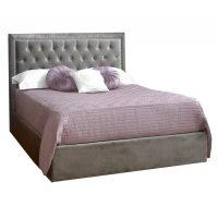Rhea Ottoman Bed Frame Fabric Silver