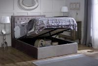 Rhea Ottoman Bed Frame Fabric Silver 3