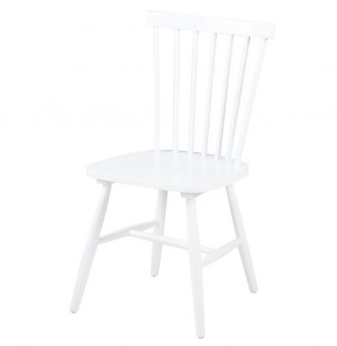 Riano Slatted White Dining Chair