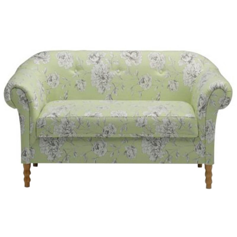 Rosie Sofa Floral Fabric Lime