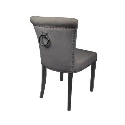 Sandingham Grey Linen Fabric Chairs 1
