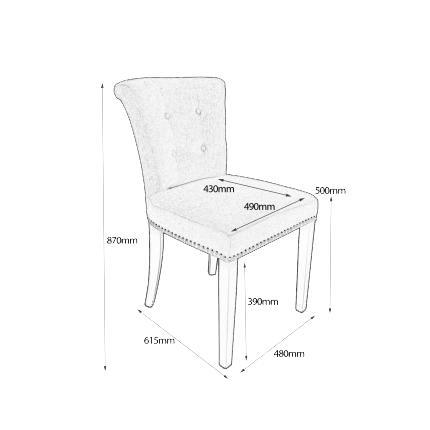 Sandingham Grey Linen Fabric Chairs 3