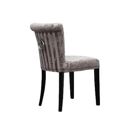 Sandringham Mink Baroque Fabric Dining Chairs 1