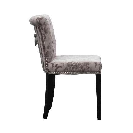 Sandringham Mink Baroque Fabric Dining Chairs 2