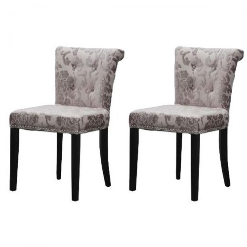 Sandringham Baroque Dining Chair Charcoal Fabric