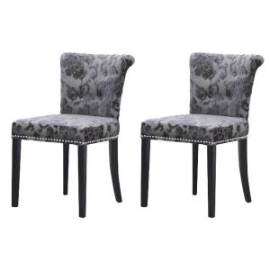 Sandringham Baroque Dining Chairs Mink Fabric