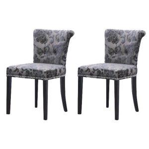 Sandringham Baroque Dining Chairs Mink Fabric