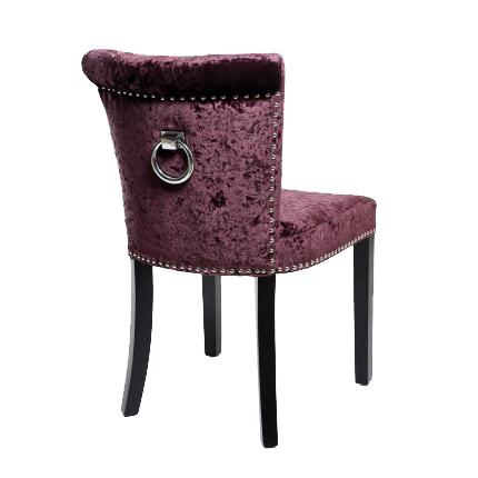 Sandringham Grape Crushed Velvet Dining Chairs 1