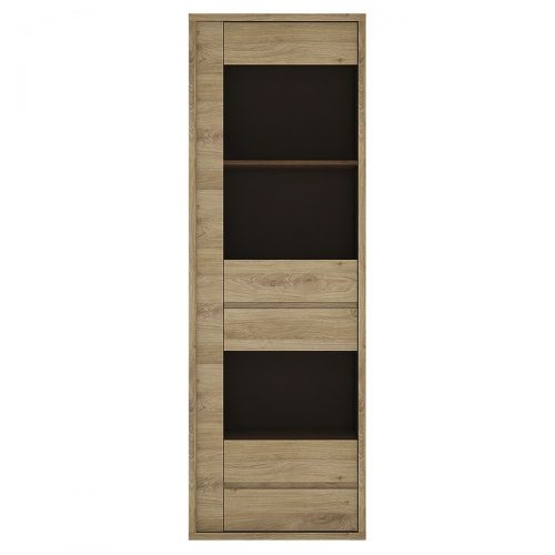 Shetland Display Cabinet 1 Door 1 Drawer Wooden