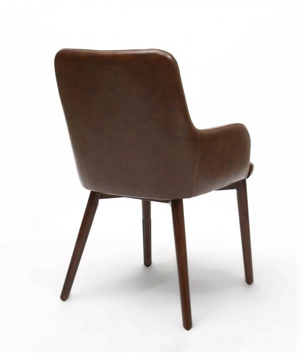 Sidcup Brown Leather Dining Chairs 1