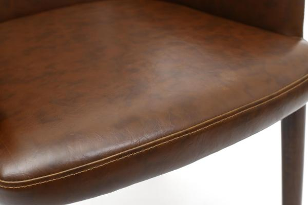 Sidcup Brown Leather Dining Chairs 4