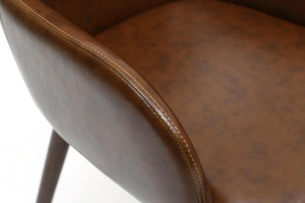 Sidcup Brown Leather Dining Chairs 5
