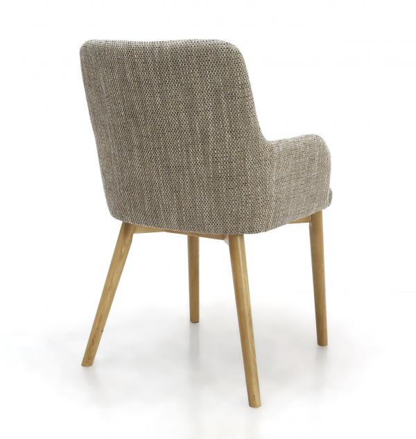Sidcup Tweed Fabric Dining Chairs 1