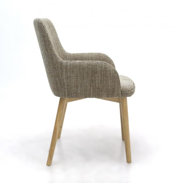 Sidcup Tweed Fabric Dining Chairs 2