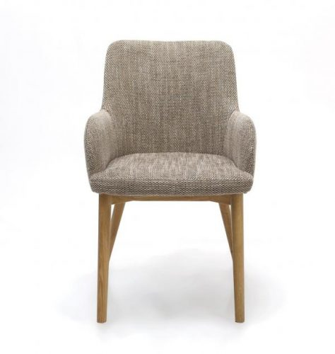 Sidcup Tweed Fabric Dining Chairs 4