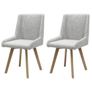 Skandi Dining Chairs Fabric Grey