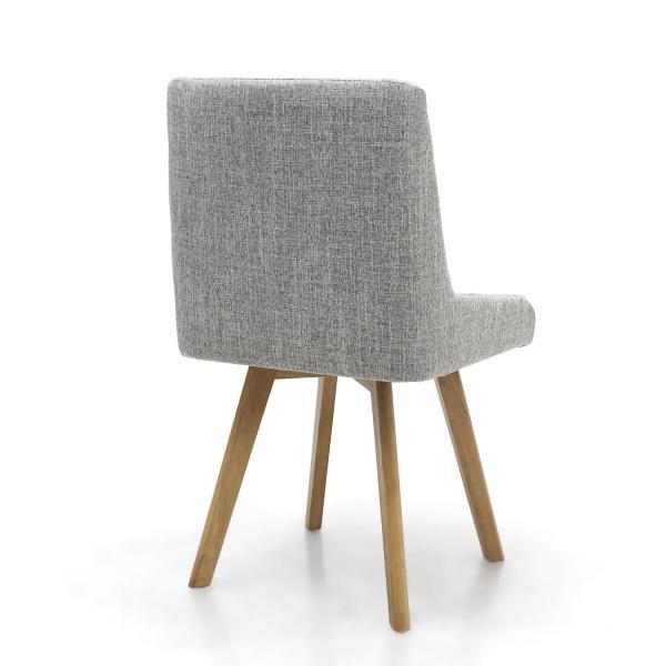Skandi Grey Fabric Dining Chairs 1