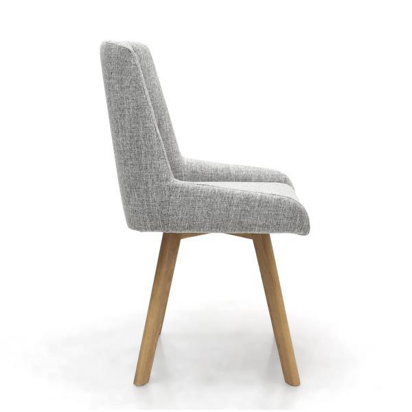 Skandi Grey Fabric Dining Chairs 2