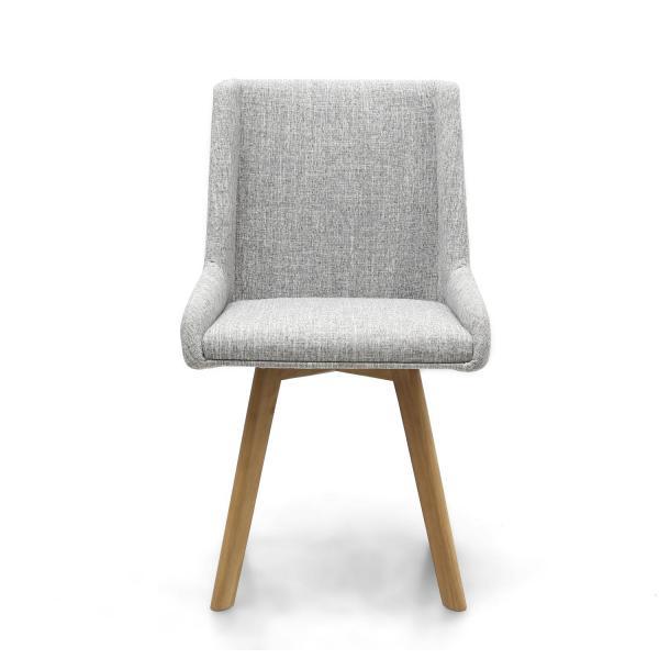 Skandi Grey Fabric Dining Chairs 3