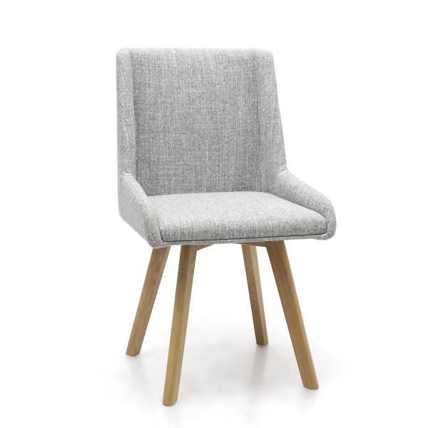 Skandi Grey Fabric Dining Chairs 4