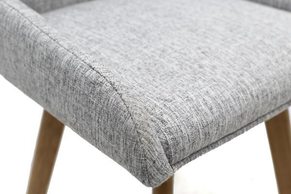 Skandi Grey Fabric Dining Chairs 6