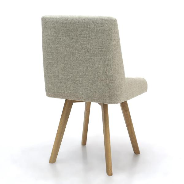 Skandi Natural Fabric Dining Chairs 1