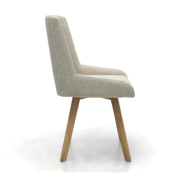 Skandi Natural Fabric Dining Chairs 2