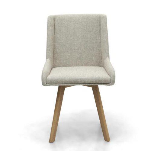 Skandi Natural Fabric Dining Chairs 3