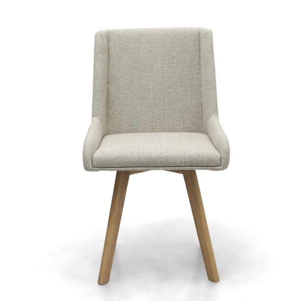 Skandi Natural Fabric Dining Chairs 3