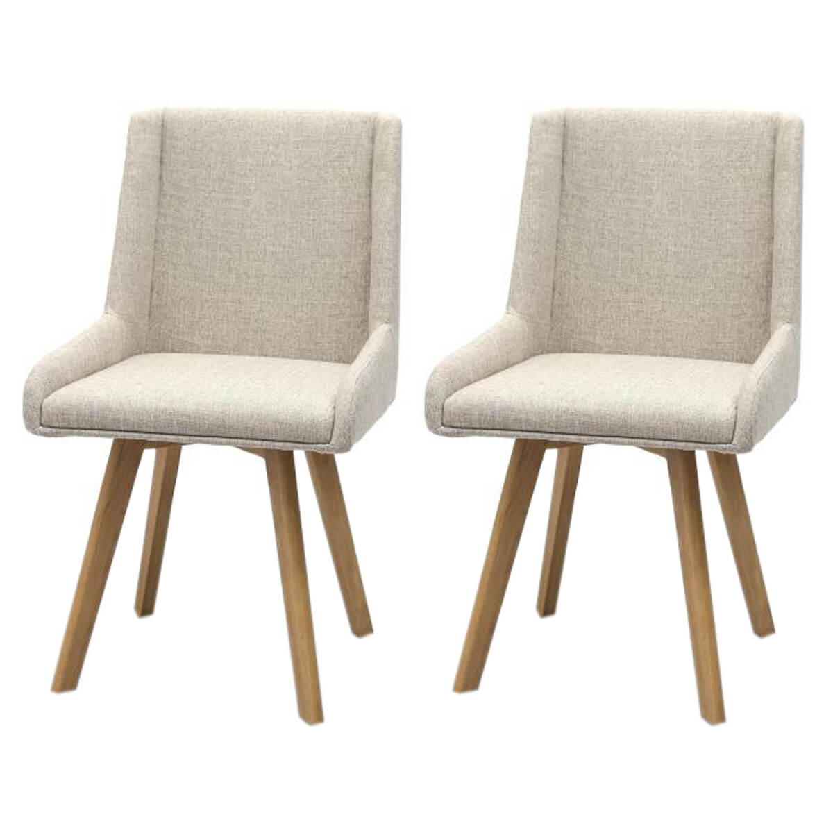 Skandi Dining Chairs Fabric Natural