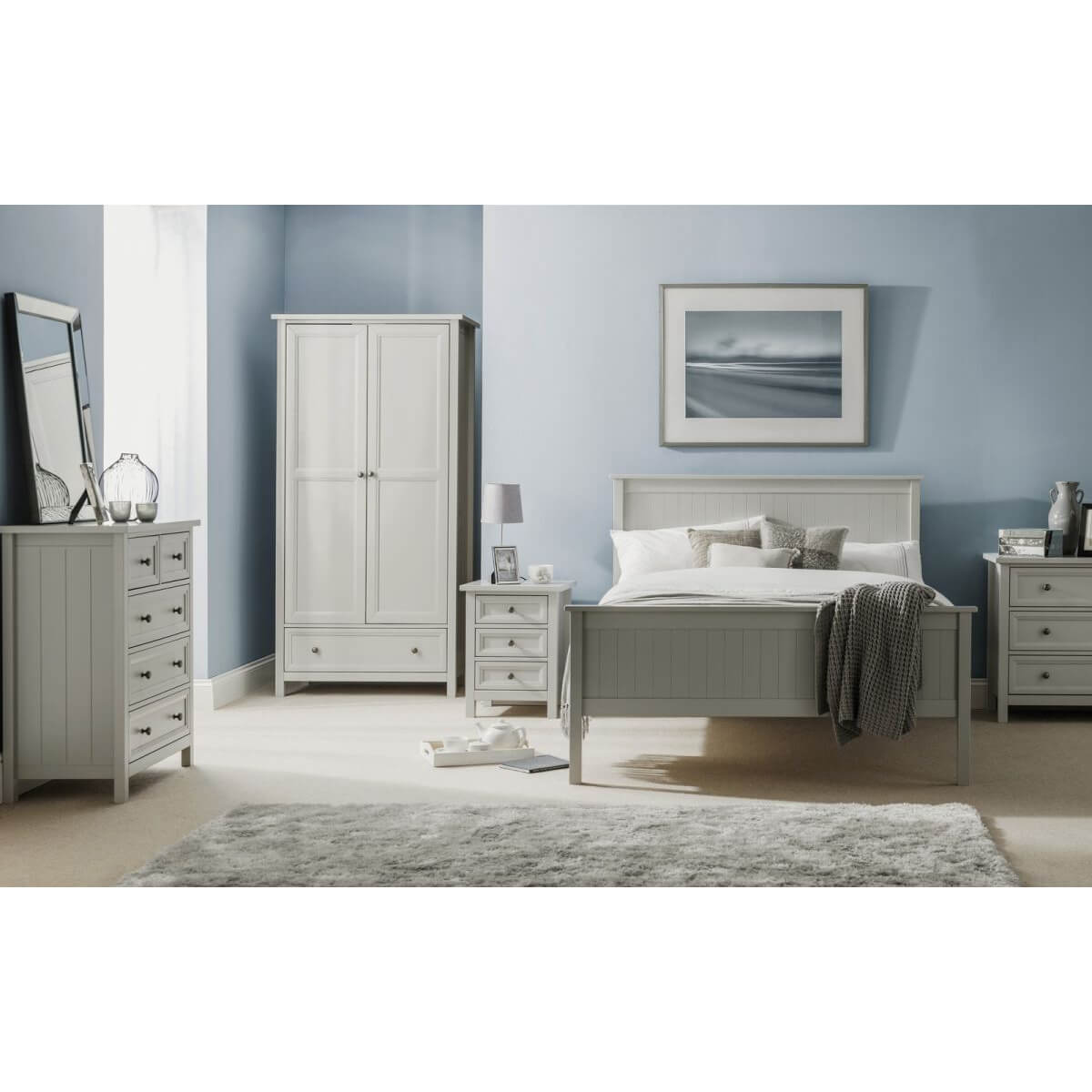 Stamford Wooden bed Frame Dove Grey 3