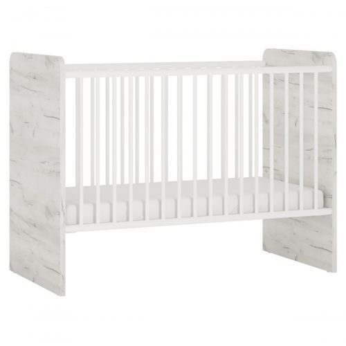 Starlight First Cot with Storage Drawer Textured White