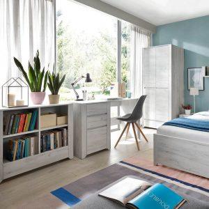 Starlight Kids Bedside Cabinet White Textured 1 Drawer 5