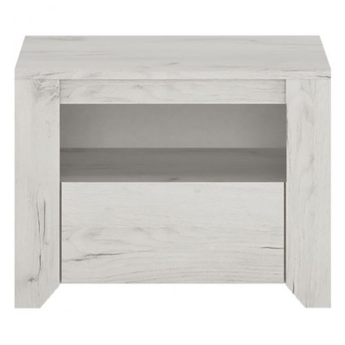 Starlight Kids Bedside Cabinet White Textured 1 Drawer