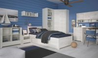Starlight Kids Single Bed with Underbed Drawer Textured White 5