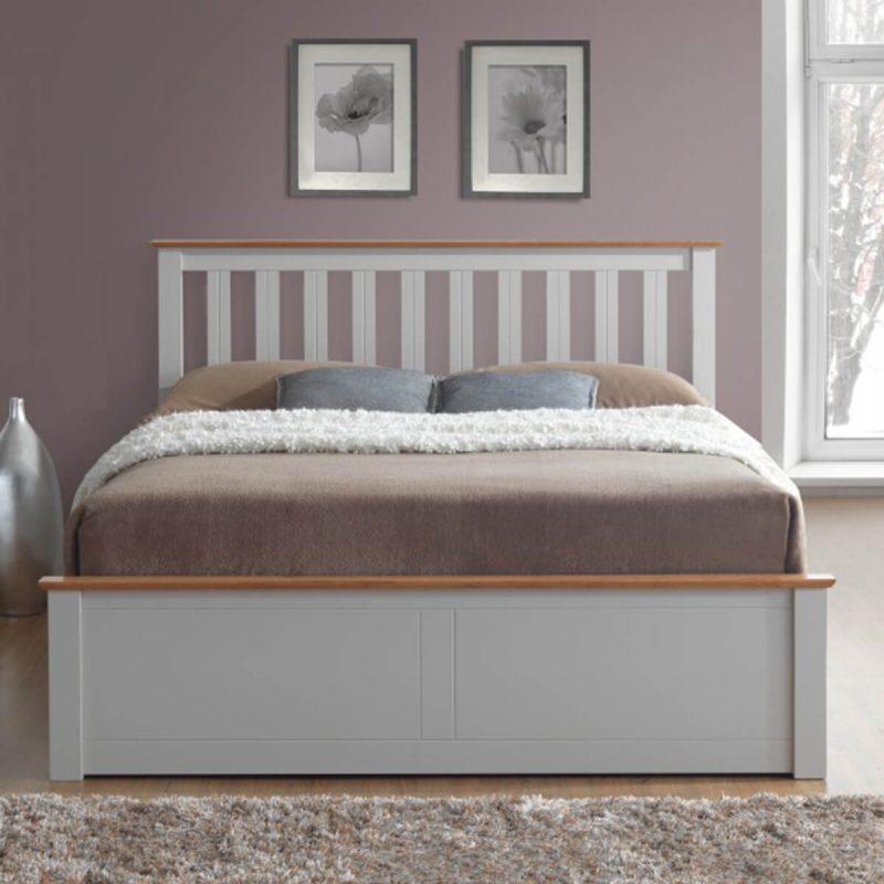 Tornio Stone Wooden Ottoman Bed 4