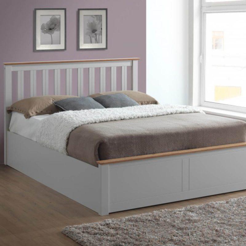 Tornio Stone Wooden Ottoman Bed 5