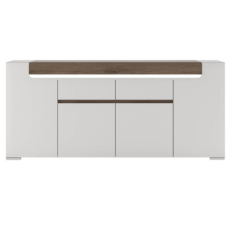 Toronto Sideboard White Gloss 4 Door 2 Drawer