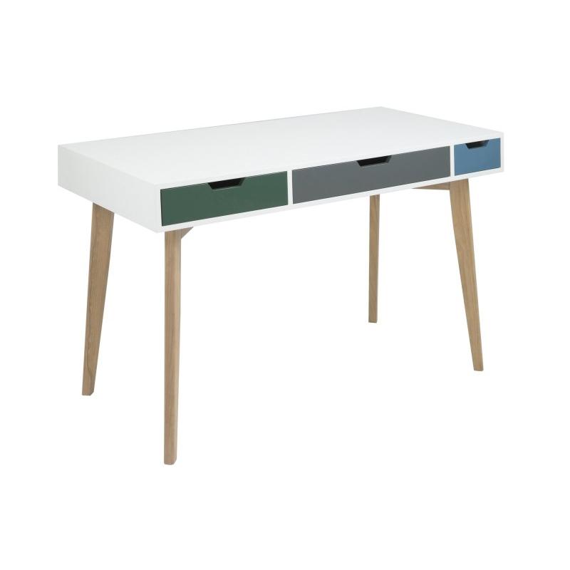 Toya Wooden Multi Coloured Desk 1