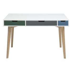 Toya Wooden Multi Coloured Desk