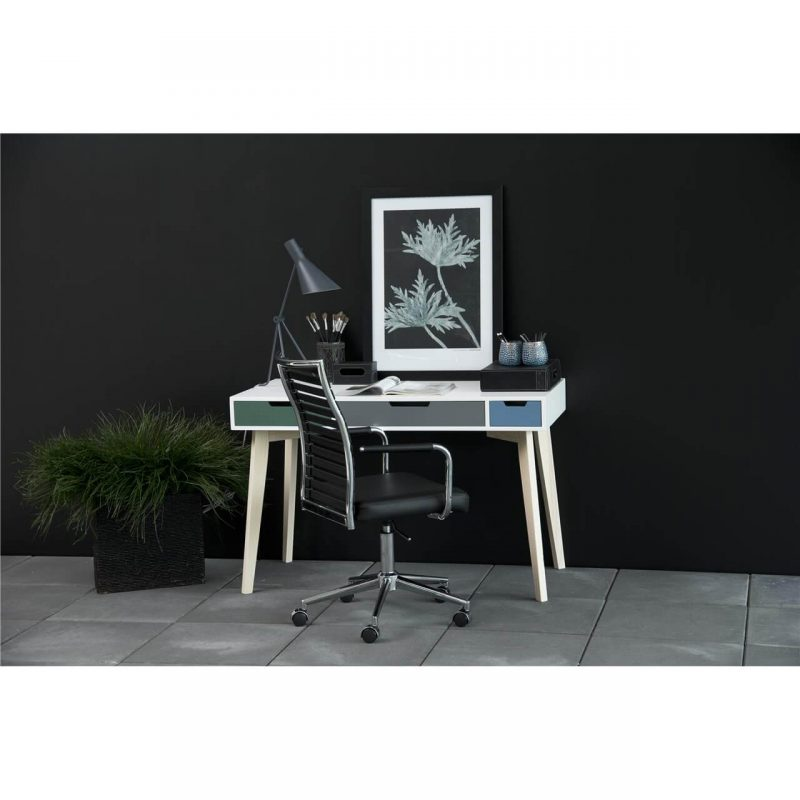 Toya Wooden Multi Coloured Desk 4