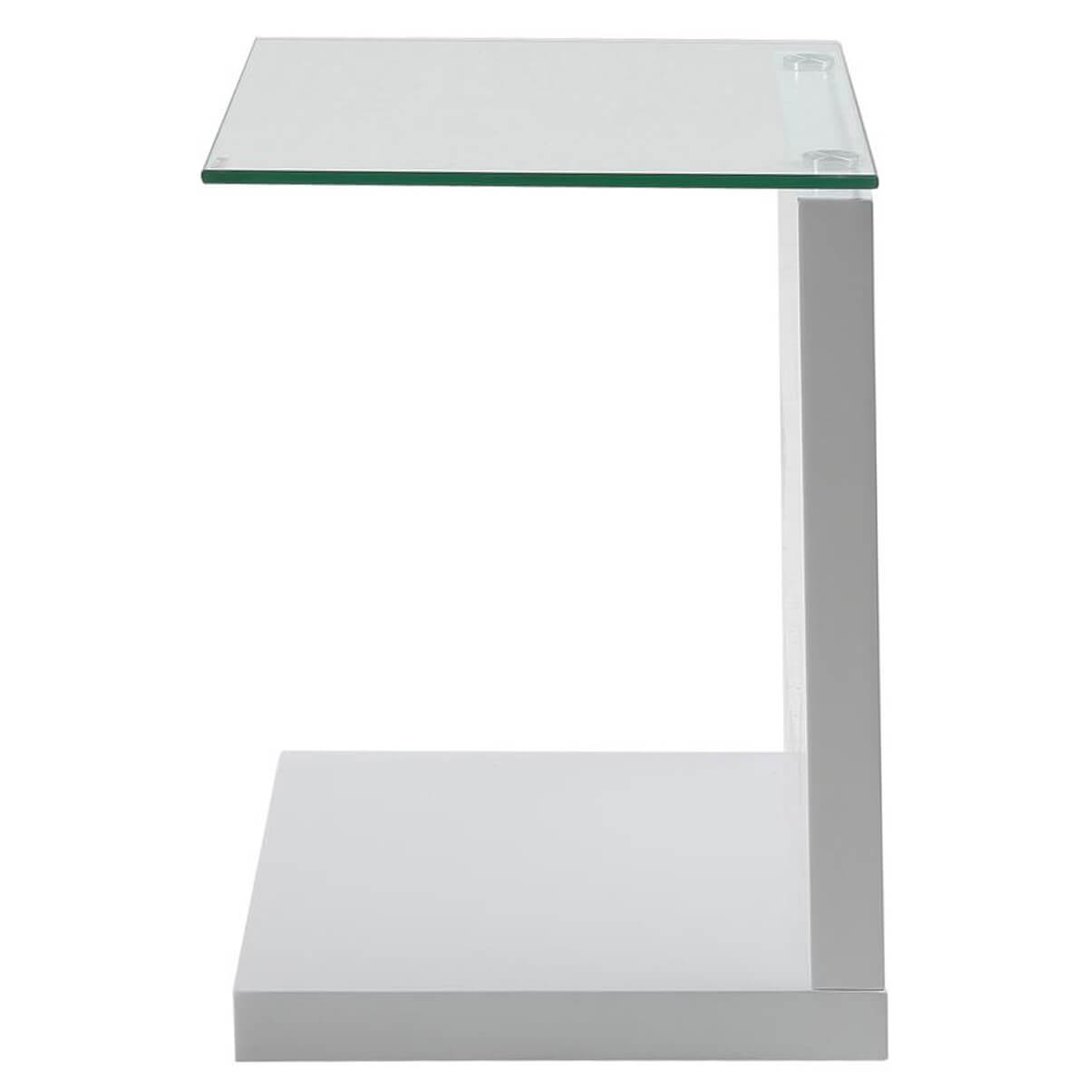 White Gloss Bathroom Fitted Furniture 1500mm: Tupit White Gloss Lamp Table